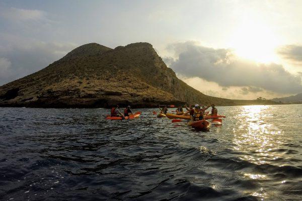 Kayak al atardecer 🛶🌅 Noche de las Perseidas 💫✨ Cabo Cope. 12 Agosto