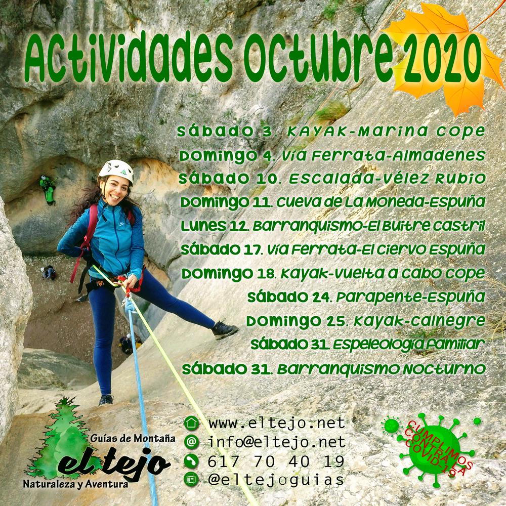 Actividades Octubre 2020