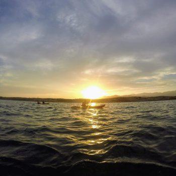 Kayak al atardecer. Noches de San Juan y Luna Llena . Cabo Cope